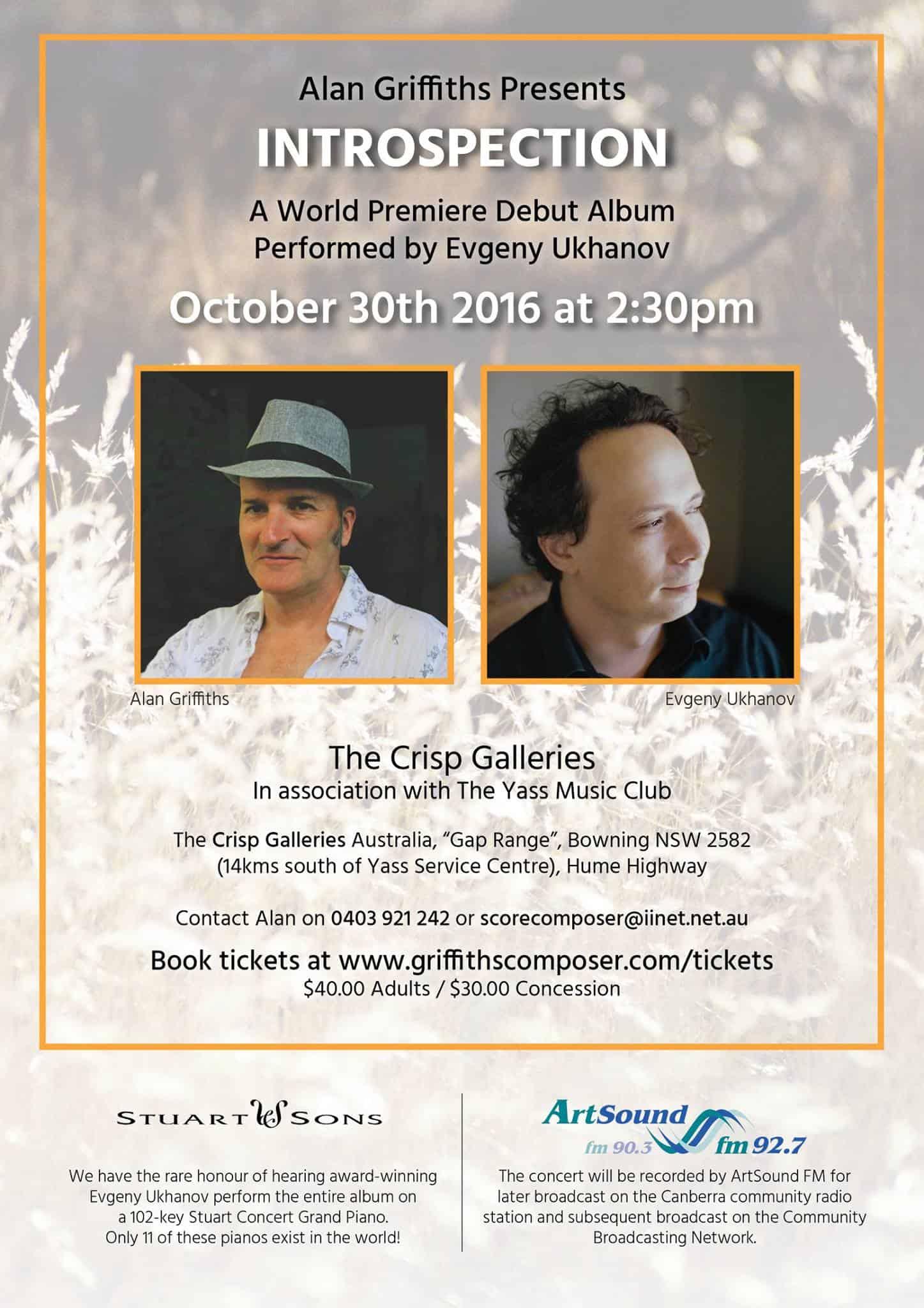 Introspection World Premiere - Concert Program